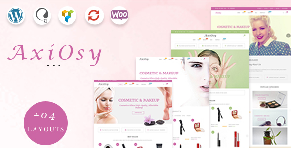 Wordpress Shop Template AxiOsy - Makeup & Beauty WooCommerce Theme