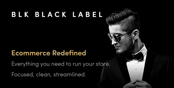 Wordpress Shop Template BLK Black Label — Streamlined WooCommerce Solution