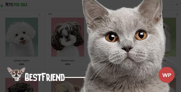Wordpress Shop Template Bestfriend - Pet Shop WordPress WooCommerce Theme