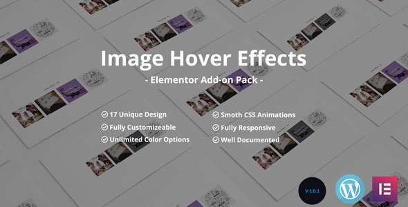Wordpress Add-On Plugin Image /Thumb Hover Effects Collection - Elementor Page Builder