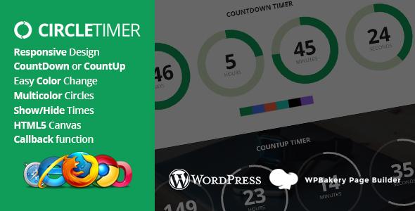 Wordpress Add-On Plugin CircleTimer - Addon for WPBakery Page Builder