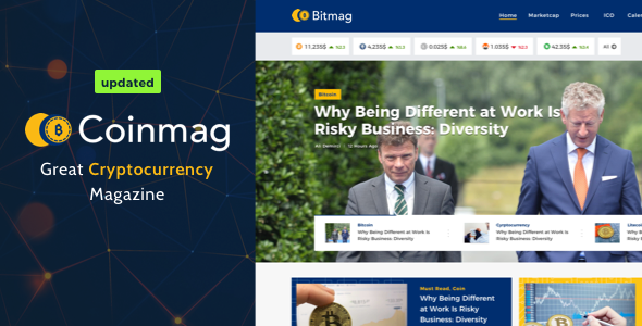 Wordpress Blog Template Coinmag - CryptoCurrency Blog WordPress Theme