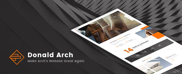 Wordpress Kreativ Template Donald Arch - Creative Architecture WordPress Theme