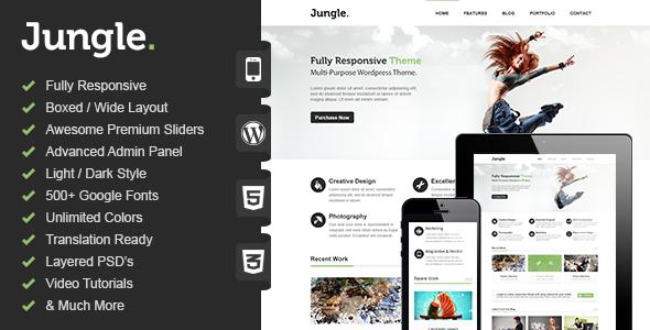Wordpress Corporate Template Jungle - Responsive Multi-Purpose WordPress Theme