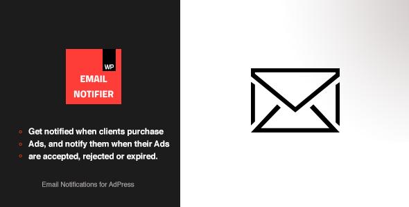 Wordpress Add-On Plugin Email Notifications - AdPress Addon