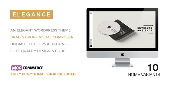 Wordpress Kreativ Template ELEGANCE - A Creative WordPress Theme with Shop