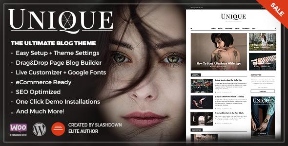 Wordpress Blog Template Unique - Personal & Magazine WordPress Responsive Blog Theme