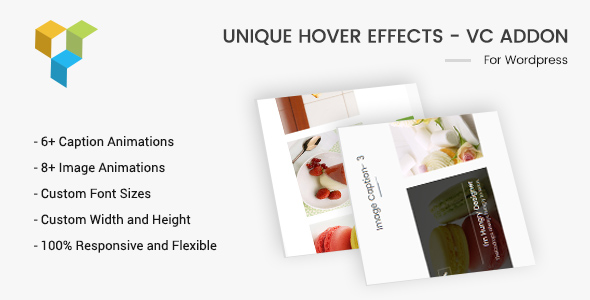 Wordpress Add-On Plugin Unique Hover Effects - VC Addon