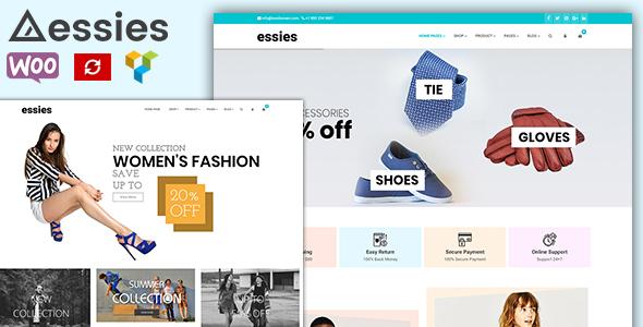 Wordpress Shop Template Essies - Modern Fashion WooCommerce Theme