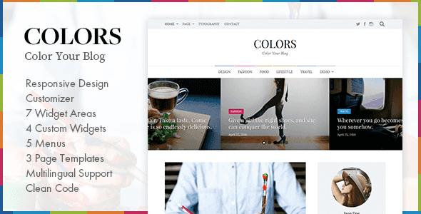Wordpress Blog Template Colors - Simple Blog & Magazine WordPress Theme