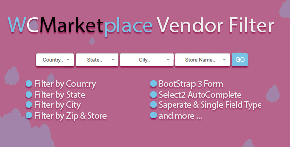 Wordpress E-Commerce Plugin WC Marketplace Vendor Filter