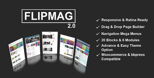 Wordpress Blog Template Flip Mag - Viral WordPress News Magazine/Blog Theme
