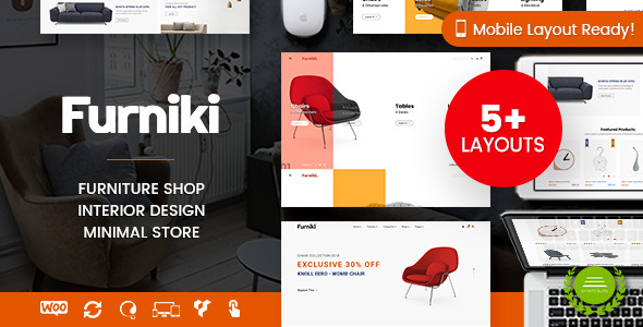 Wordpress Shop Template Furniki - Furniture Store & Interior Design WordPress WooCommerce Theme (Mobile Layout Ready)