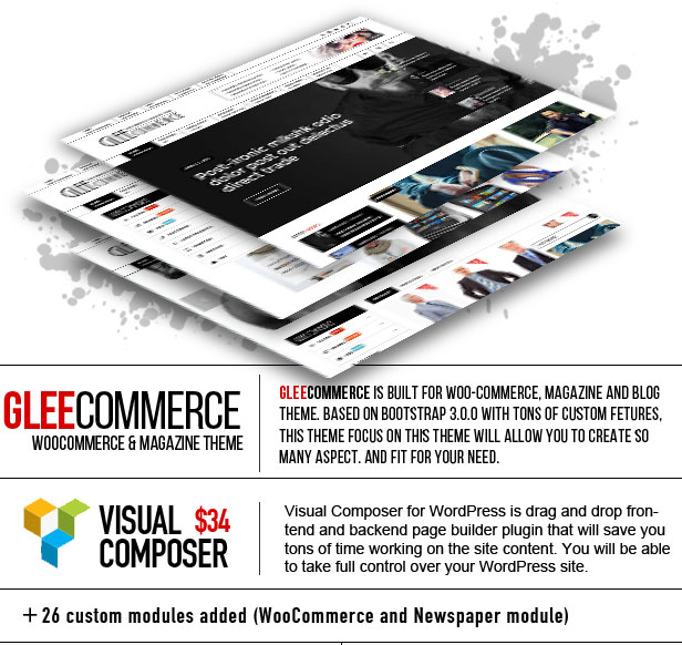 GleeCommerce - Multiconcept Woo und Magazine Layout - 5