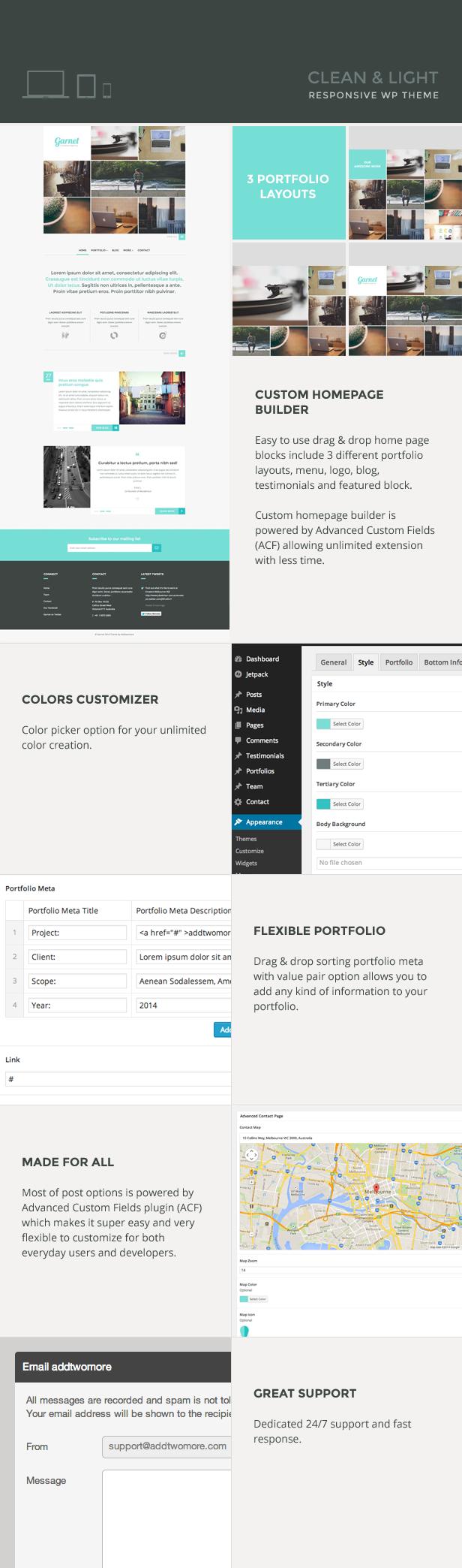 WordPress-Vorlage für Granat-Kreativ-Portfolio - 4