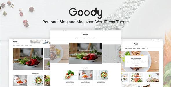 Wordpress Blog Template Goody - Personal Blog and Food Blog WordPress Theme