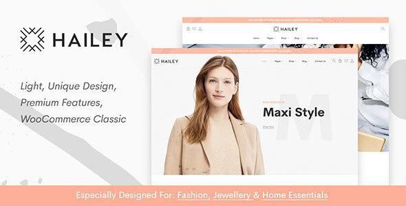 Wordpress Shop Template Hailey - Classic WooCommerce Theme