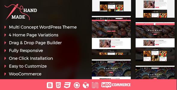 Wordpress Shop Template Handmade Product Shop  WordPress Theme