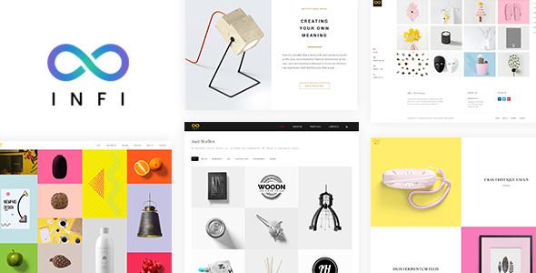 Wordpress Kreativ Template Infi Portfolio - Responsive Portfolio Theme