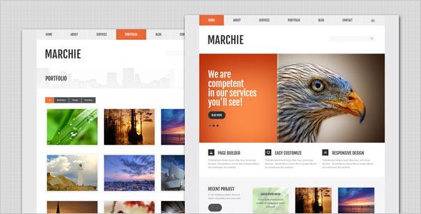 Wordpress Corporate Template Marchie - Corporate Business WordPress Theme