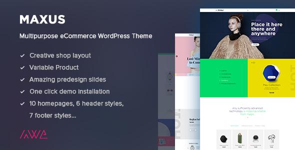 Wordpress Shop Template Maxus - Multipurpose eCommerce WordPress Theme