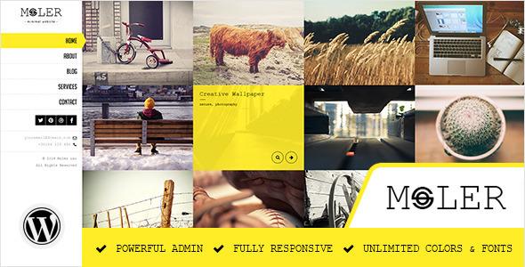 Wordpress Kreativ Template Moler - Full Screen WordPress Portfolio