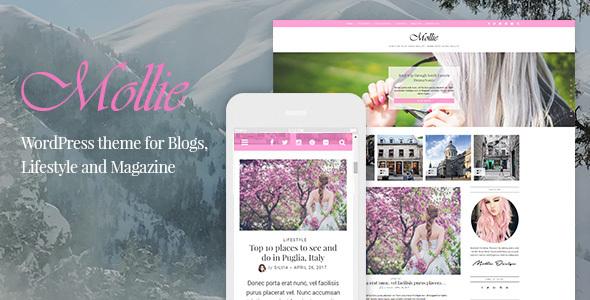 Wordpress Blog Template Mollie - Beautiful and Responsive WordPress Blog Theme