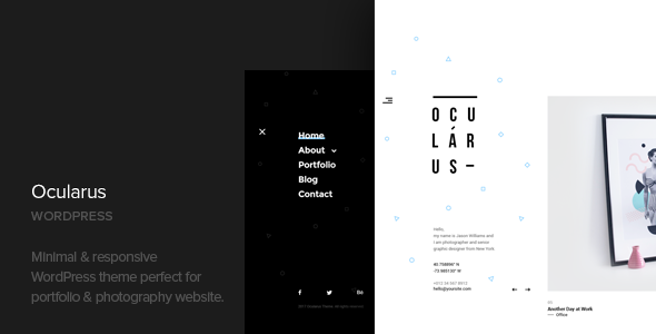 Wordpress Kreativ Template Ocularus - Minimal Photography WordPress Theme