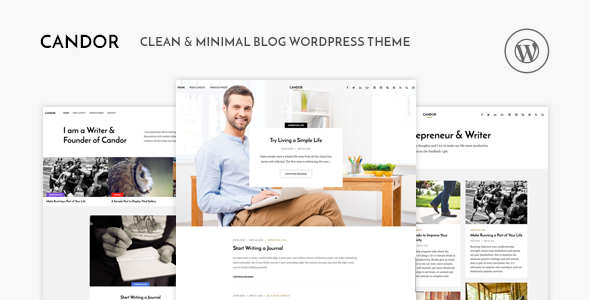 Wordpress Blog Template Candor - Responsive WordPress Blog Theme