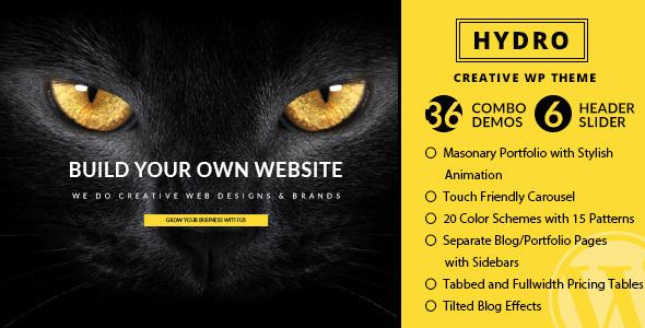 Wordpress Kreativ Template One Page Multipurpose WordPress Theme - HYDRO
