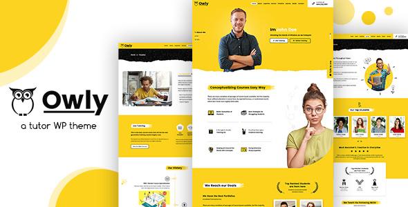 Wordpress BILDUNG Template Owly - Tutor & Teacher WordPress Theme