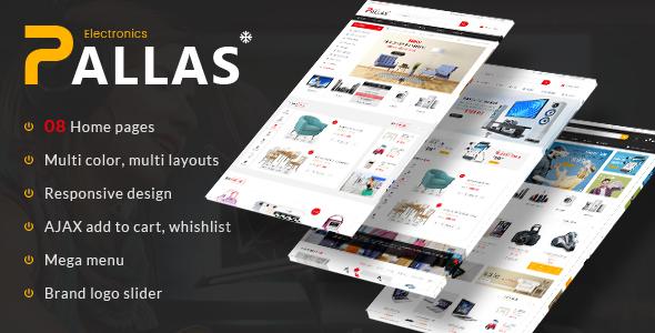 Wordpress Shop Template Pallas - Electronics Theme for WooCommerce WordPress