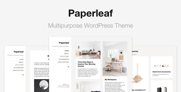 Wordpress Blog Template Paperleaf - Multipurpose Minimal WordPress Theme