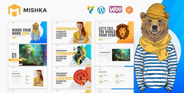 Wordpress Kreativ Template Portfolio | Mishka Portfolio WordPress for Portfolio