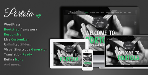 Wordpress Kreativ Template Portola WordPress Theme