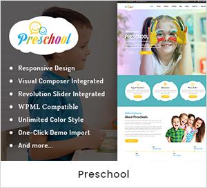 Vorschule - Kindergarten und Schule WordPress Vorlage
