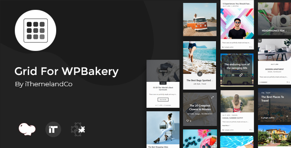 Wordpress Add-On Plugin Grid For WPBakery Page Builder (Visual Composer)