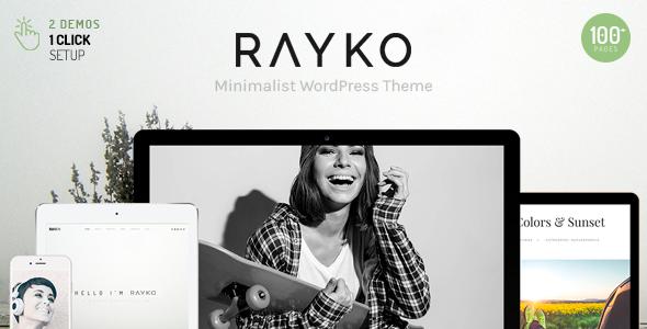 Wordpress Kreativ Template Rayko - Minimal Multi-Concept WordPress Theme