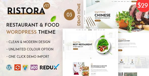 Wordpress Entertainment Template Ristora - Restaurant & Food WordPress Theme