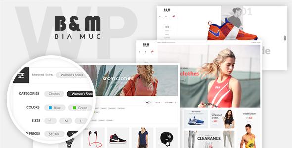 Wordpress Shop Template SNS BiaMuc - WooCommerce WordPress Theme