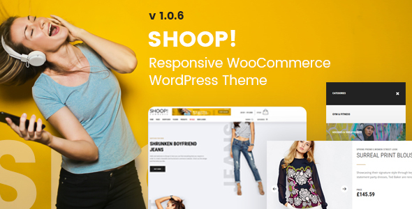 Wordpress Shop Template Shoop! - WordPress WooCommerce Shop Theme
