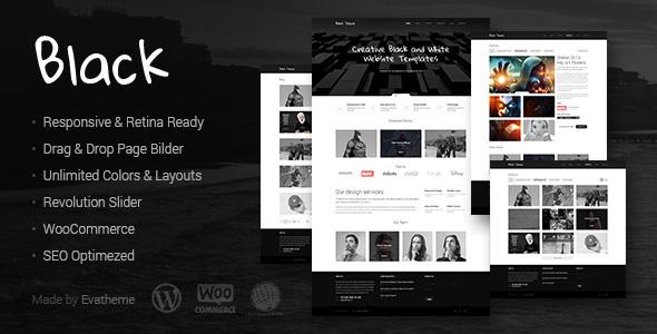 Wordpress Kreativ Template Black - Premium Multi-Purpose WordPress Theme