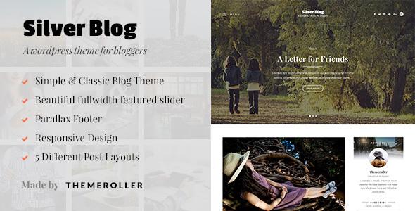 Wordpress Blog Template Silver Blog - A Simple WordPress Blog Theme