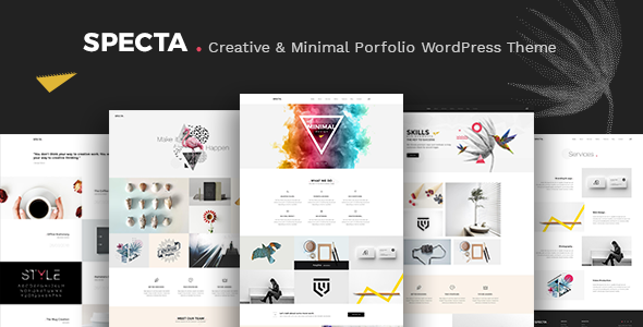 Wordpress Kreativ Template Specta - Multipurpose Portfolio WordPress Theme