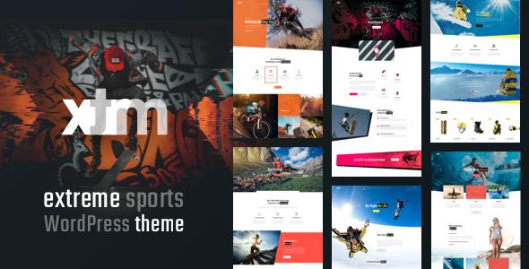 Wordpress Entertainment Template Sports XTRM - Extreme Sports, Snowboarding, Mountain Bike WordPress  Sports