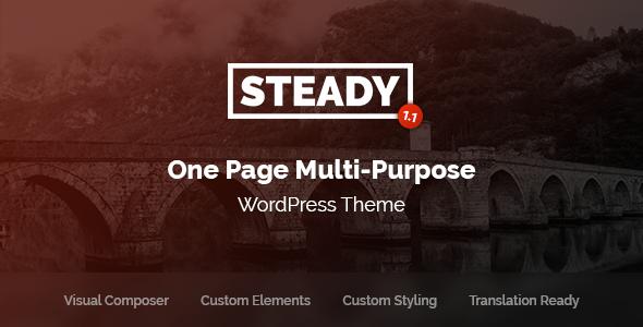 Wordpress Kreativ Template Steady - One Page Multi-Purpose WordPress Theme