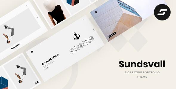 Wordpress Kreativ Template Sundsvall - Ajax Based Portfolio Theme