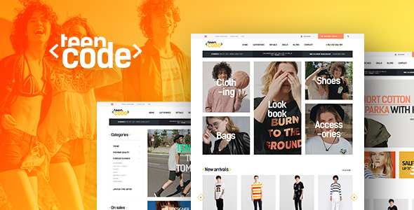 Wordpress Shop Template TeenCode - Woocommerce Fashion WordPress Theme