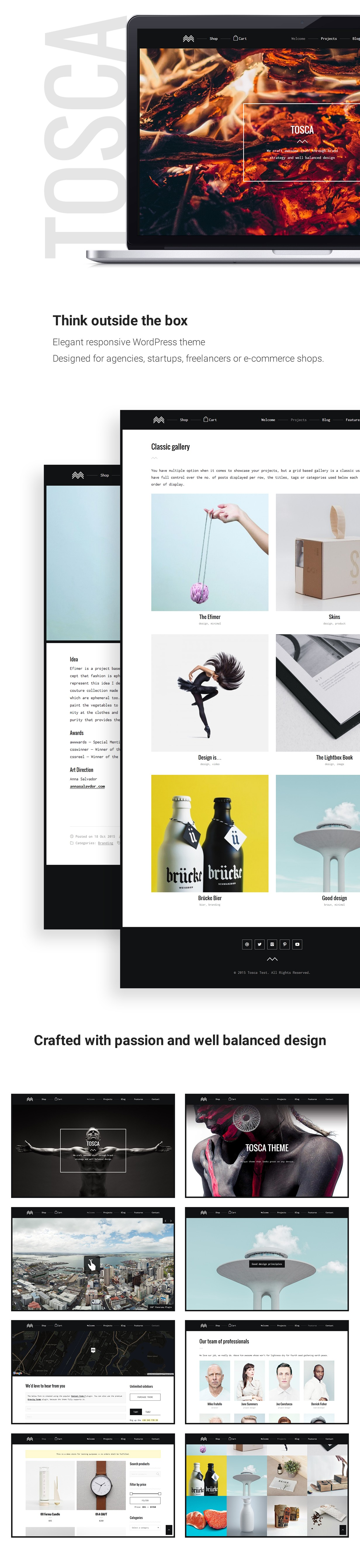 Wordpress Kreativ Template Tosca - A Fresh Creative Portfolio & Ecommerce WordPress Theme