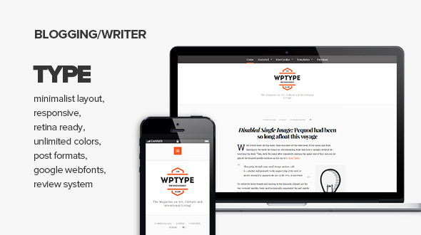 Wordpress Blog Template Type - Clean & Minimalist Blogging Theme